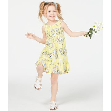 Little Girls Floral-Print Smocked Dress, Created for Macy's