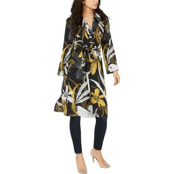 Thalia Sodi Womens Printed Collared Jacket
