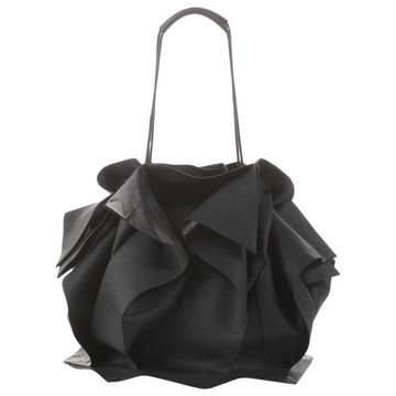 Issey Miyake Black Cloth Handbag