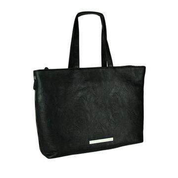 Buxton Zipping Around Black Laptop Travel Tote Bag
