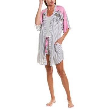Kensie Womens Kimono Robe
