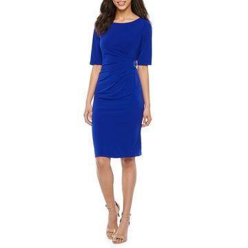 Jessica Howard Short Sleeve Sheath Dress