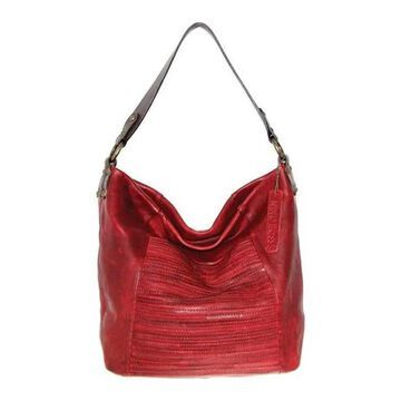 Nino Bossi Women's Jaiden Leather Shoulder Bag Burgundy - US Women's One Size (Size None)
