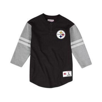 Mitchell & Ness Men's Pittsburgh Steelers Team Logo Henley Top