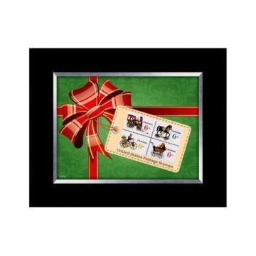 American Coin Treasures Christmas Toy United States Stamp Collection Framed