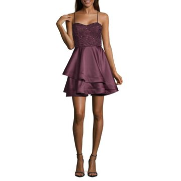 My Michelle Homecoming Spaghetti Strap Party Dress-Juniors