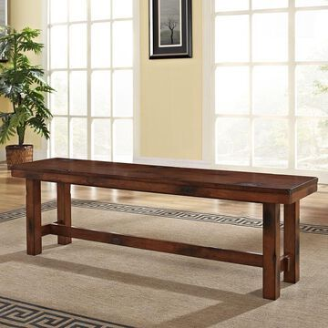 Walker Edison Dark Oak Wood Bench