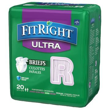 Medline FitRight Ultra Briefs Regular