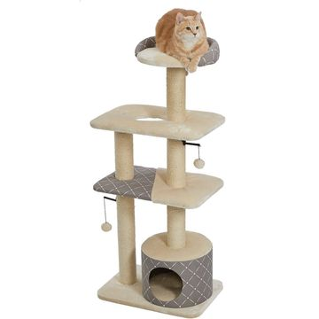 MidWest Feline Nuvo Tower 50.5-in Faux Fur Cat Tree & Condo
