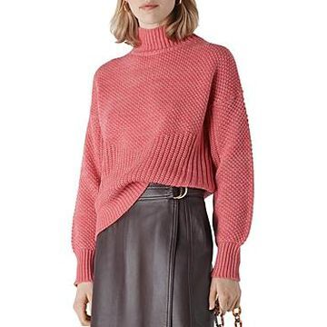 Whistles Moss-Stitch Textured Knit Sweater