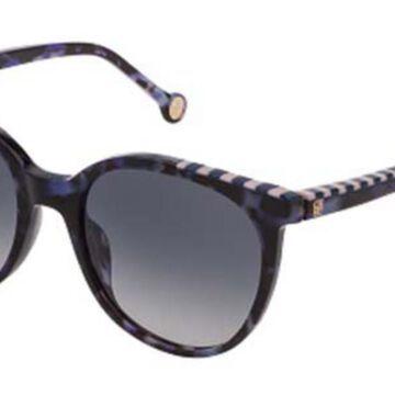 Carolina Herrera SHE794V 06DQ Men's Sunglasses Tortoise Size 53