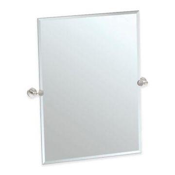Gatco Glam 31.5-Inch Rectangle Mirror in Satin Nickel