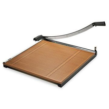 Elmer's Square Commercial Grade Wood Base Guillotine Trimmer