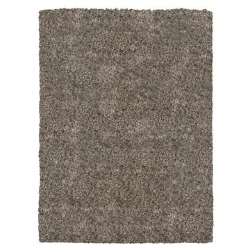 allen + roth Sansa May 8 x 10 Shag Greige Indoor Solid Industrial Area Rug in Gray   E520E27L