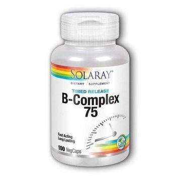 B-Complex 75 Time Release Solaray 100 Caps