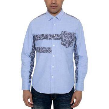 Sean John Men's Regular-Fit Paisley Pieced Oxford Shirt