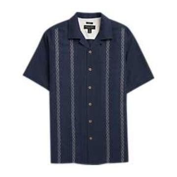 Pronto Uomo Navy Camp Shirt