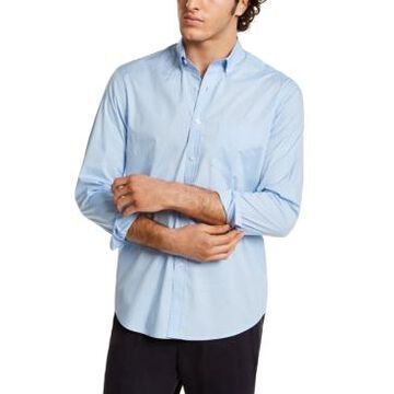 Men's Club Room Micro Dot Print Stretch Cotton Shirt, Created for Macy's