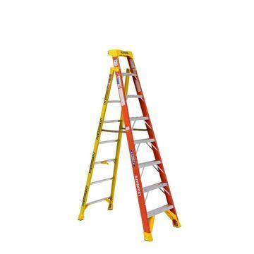 Werner 8-ft Fiberglass Type 1A - 300 lbs. Capacity Step Ladder