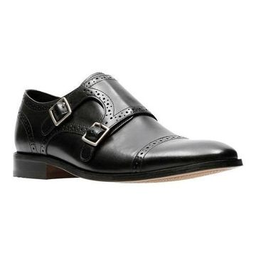 Men's Bostonian Nantasket Monkstrap Black Leather