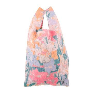 Psychedelic Floral Jacquard Shopping Tote Pink