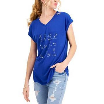 Style & Co Petite Constellation-Print T-Shirt, Created for Macy's