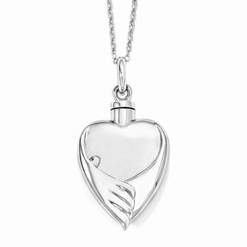 Sterling Silver Forever My Baby Ash Holder 18-inch Necklace by Versil (White - 18 Inch)