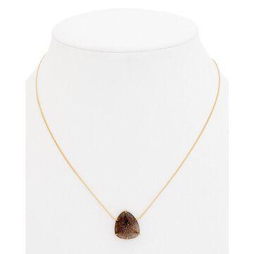 Chan Luu 18K Over Silver Black Golden Sunstone Necklace