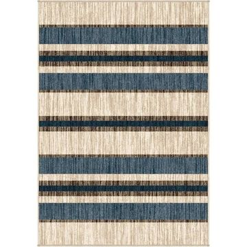 Orian Rugs Farmhouse Indoor/Outdoor Tourist Stripe Natural Rug - 7'9