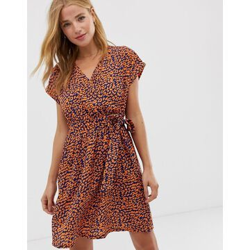 QED London tie back mini dress