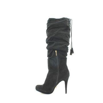Thalia Sodi Womens Brisa Fabric Closed Toe Over Knee Fashion