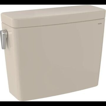 TOTO ST746SMA Drake 0.8 / 1.6 GPF Dual Flush Toilet Tank Only - Left Hand Lever Bone Fixture Toilet Tank Only