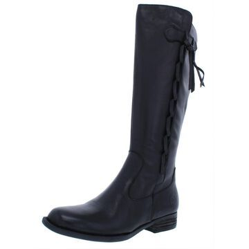 Born Womens Cook Knee-High Boots Leather Block Heel
