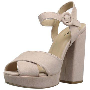 Qupid Womens Alisha-01 Open Toe Casual Ankle Strap Sandals