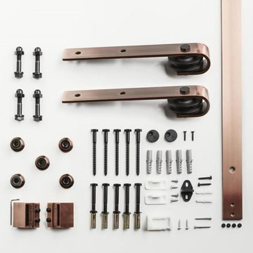 ReliaBilt 78-in Rust Top Mount Barn Door Kit