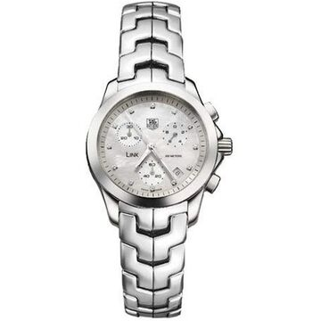 Tag Heuer Women's CJF1310.BA0580 'Link' Chronograph Stainless Steel Watch - Silver