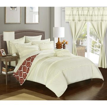 Chic Home 20-Piece Kyrie Room-In-A-Bag Beige Comforter Set (King)