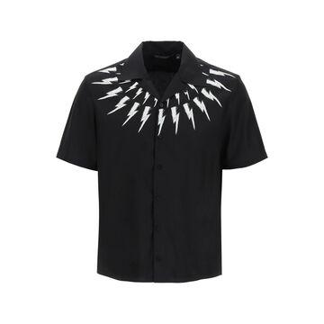 Neil barrett hawaiian fair isle thunderbolt shirt