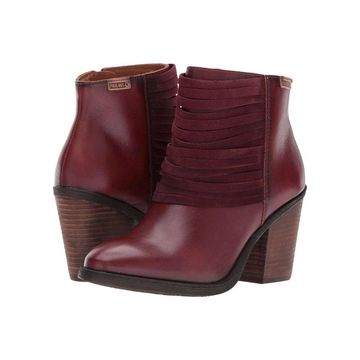 Pikolinos Womens Arcilla Leather Almond Toe Ankle Fashion Boots