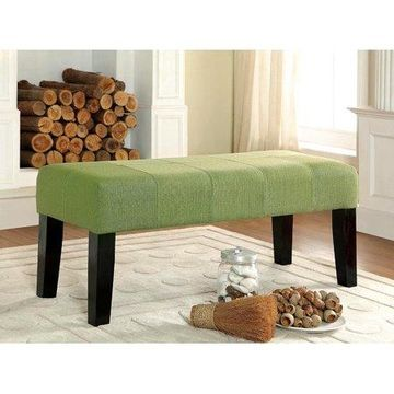 Furniture of America Diani Green Upholstered Bench