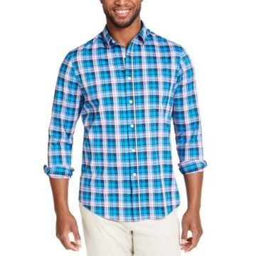 Club Room Men's Performance Plaid Shirt with Pocket, Created for Macy's