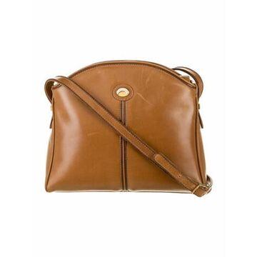 Vintage Leather Crossbody Bag Brown
