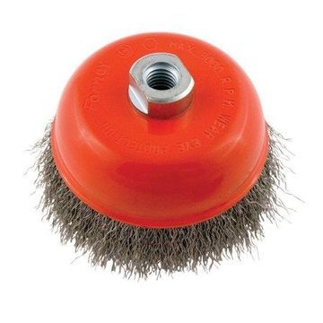 Forney 5 in. Dia. x 5/8 in. Steel Cup Brush 1 pc. Crimped