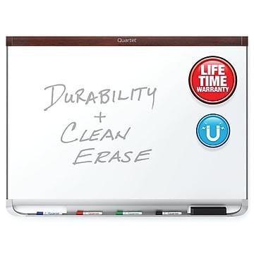 Quartet Prestige 2 DuraMax Porcelain Dry-Erase Whiteboard, 4' x 3' (P554MP2)