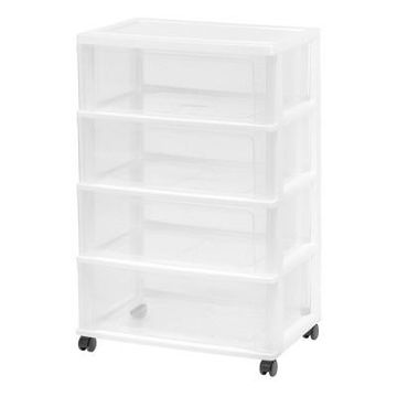 Iris 4 Drawer Wide Chest - Clear