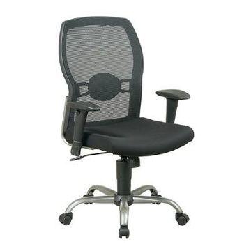 Screen Back Mesh Seat Chair Black - Office Star