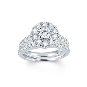 Modern Bride Signature 2 CT. T.W. Diamond 14K White Gold Engagement Ring