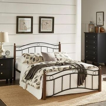Sadie Brown and Black Metal Bed by iNSPIRE Q Classic (Full)