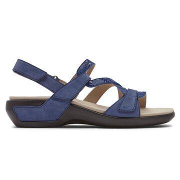 Aravon Womens Power Comfort S-Strap Sandal - Size 11 2A Blue