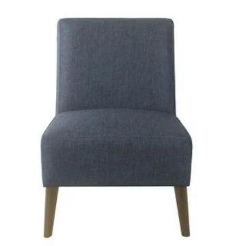 HomePop Modern Armless Dining Accent Chair (Navy Blue)
